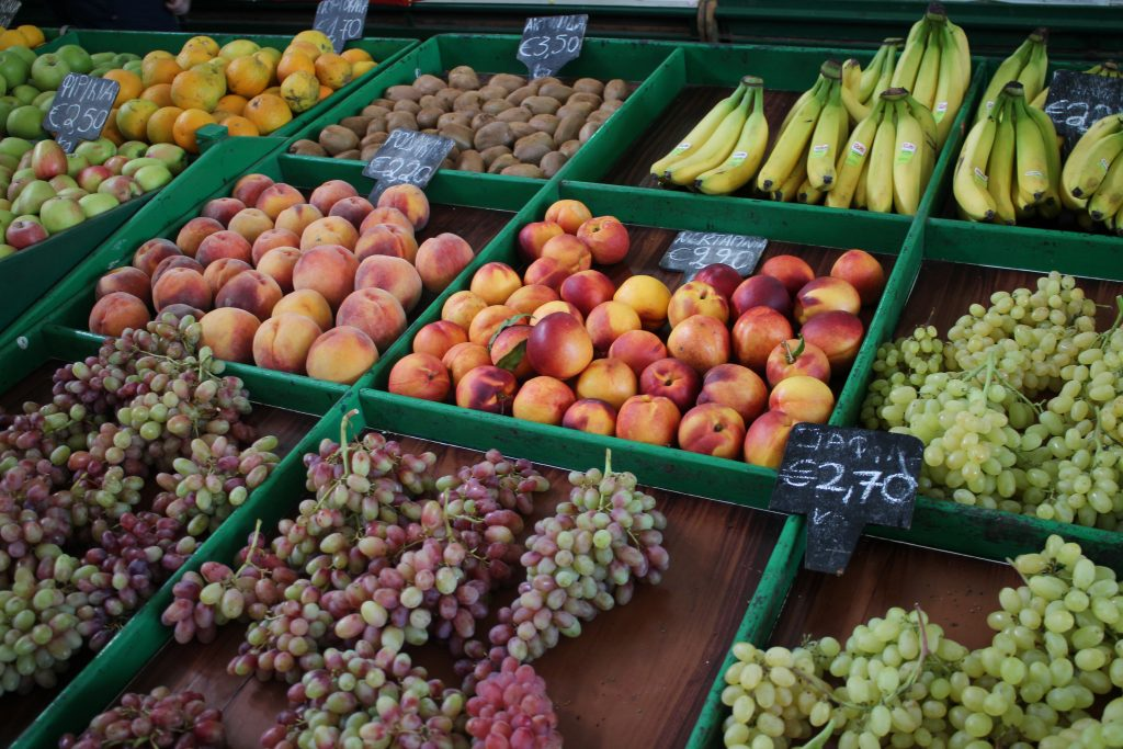 Delicious fruit at a market in Kos Town