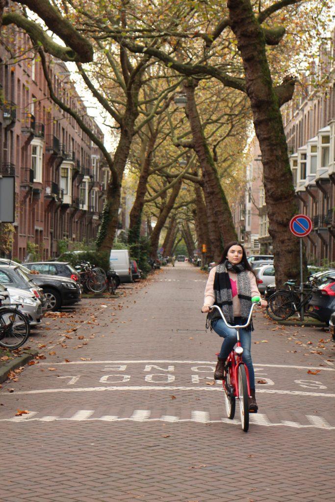 Cycling in Amsterdam is great fun