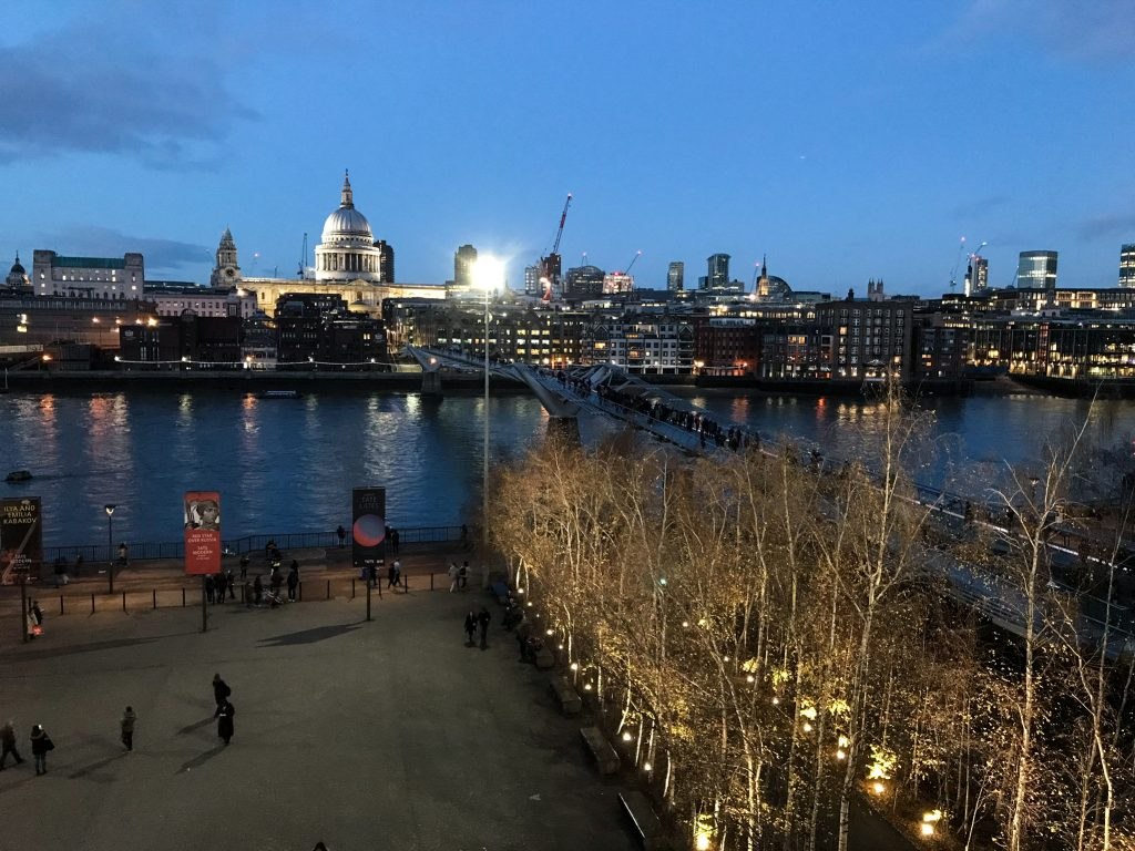 View from the terrace of Tate Modern