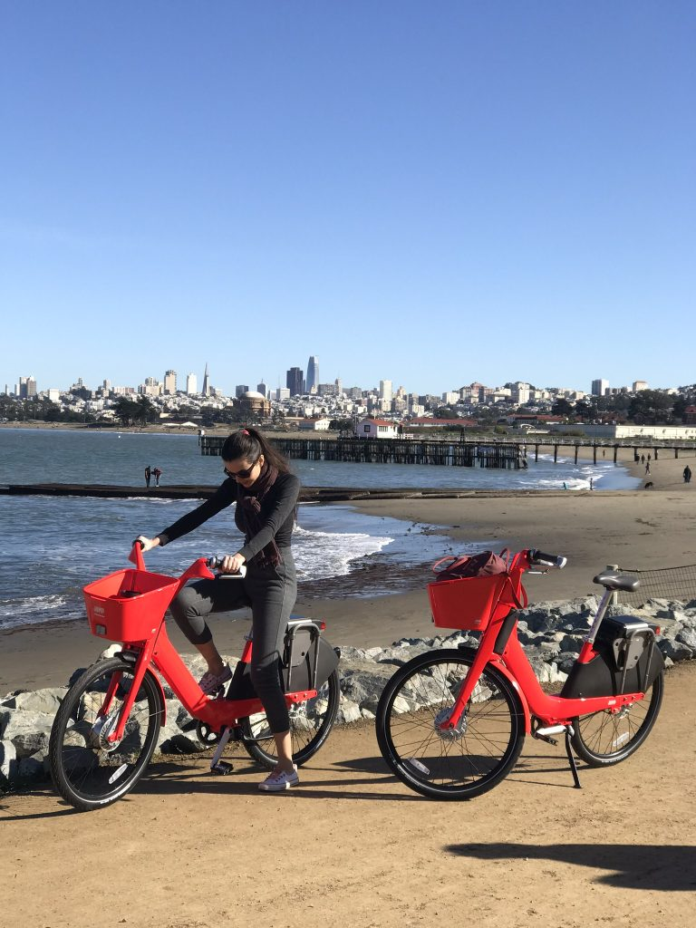 Riding Jump Bikes in San Francisco, January 2018