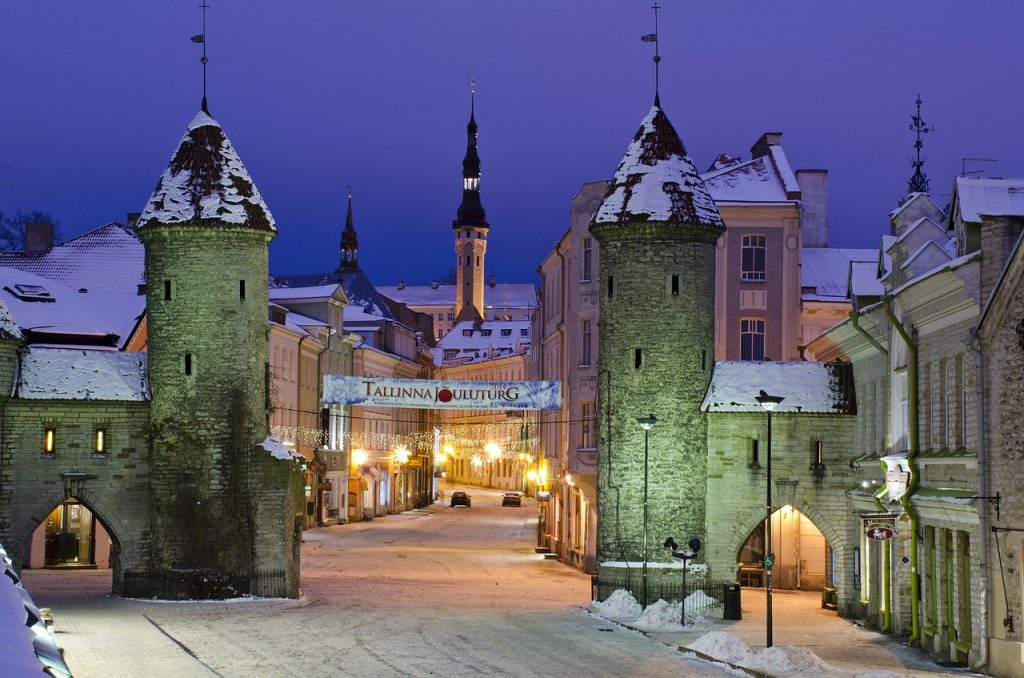 Medieval Tallinn in the winter