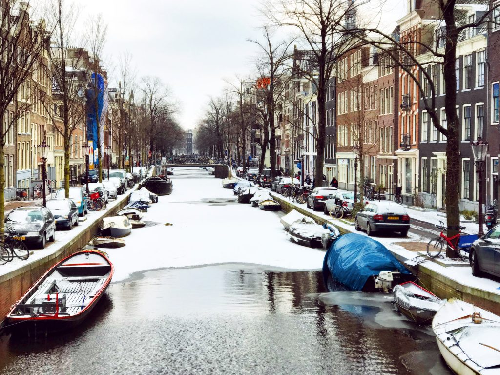 Amsterdam in the snow, winter 2018