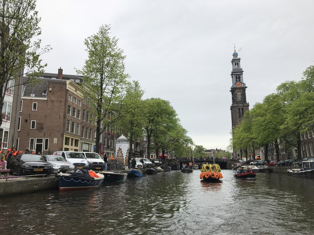 celebrating King's Day in Amsterdam