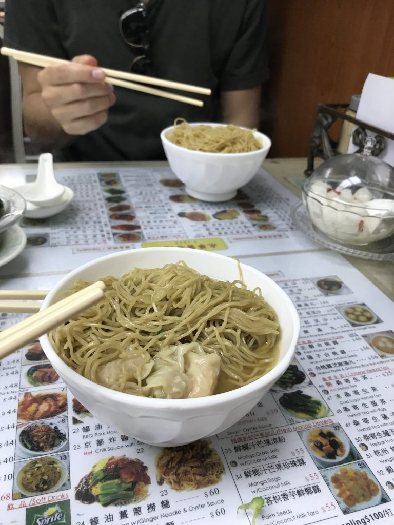 Wonton soup at Wing Wah Noodle Shop, Hong Kong