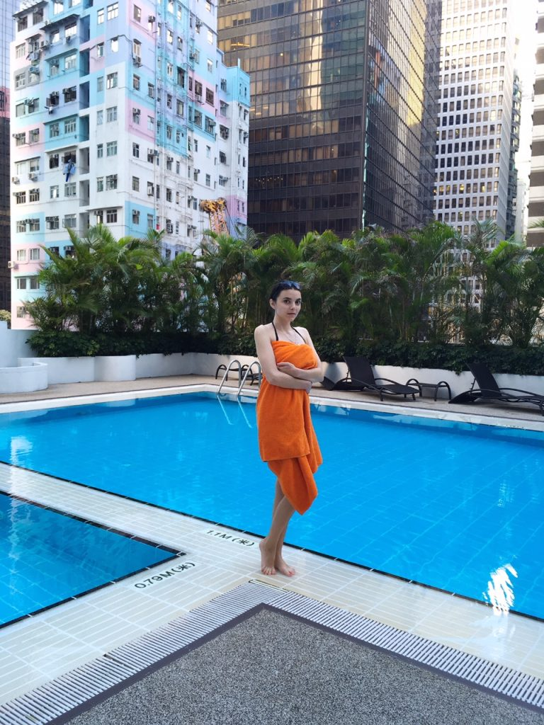 Hong Kong rooftop pool Novotel Century